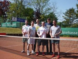 Herren-Mannschaft des Tennisvereins TV Rellinghausen in Essen